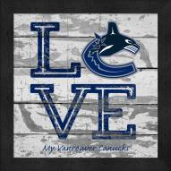Vancouver Canucks Love My Team Square Wall Decor