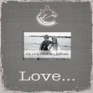 Vancouver Canucks Love Picture Frame