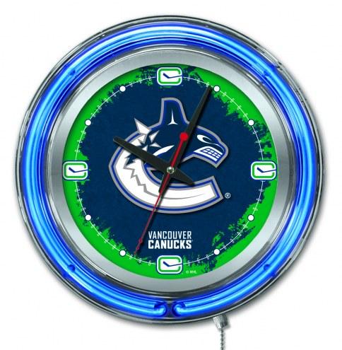 Vancouver Canucks Neon Clock