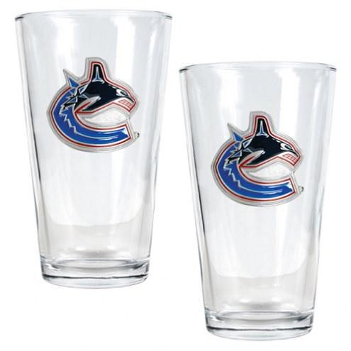Vancouver Canucks NHL Pint Glass - Set of 2