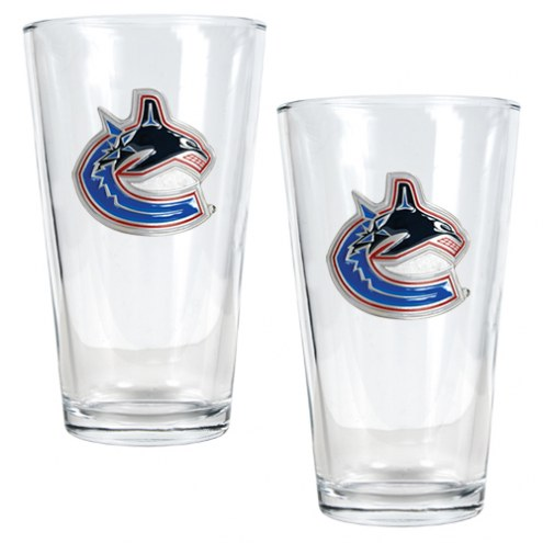Vancouver Canucks NHL Pint Glass - Set of 2