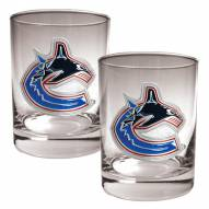 Vancouver Canucks NHL Rocks Glass - Set of 2