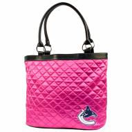 Vancouver Canucks Pink Quilted Tote Bag