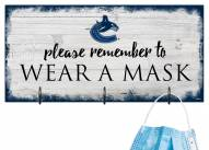 Vancouver Canucks Please Wear Your Mask Sign