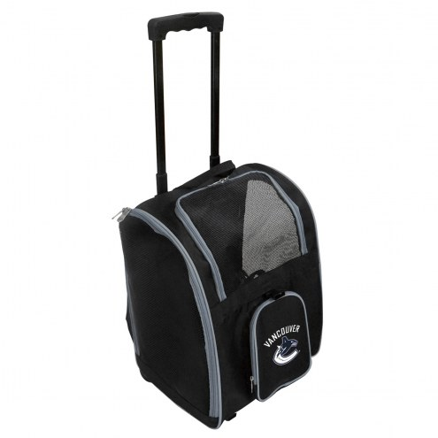 Vancouver Canucks Premium Pet Carrier with Wheels