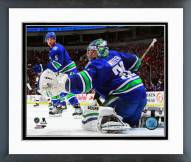 Vancouver Canucks Ryan Miller Action Framed Photo