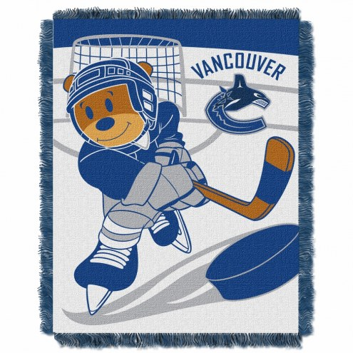 Vancouver Canucks Score Baby Blanket