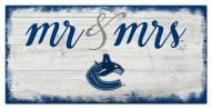 Vancouver Canucks Script Mr. & Mrs. Sign
