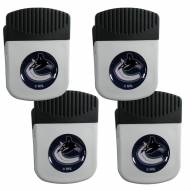 Vancouver Canucks 4 Pack Chip Clip Magnet with Bottle Opener