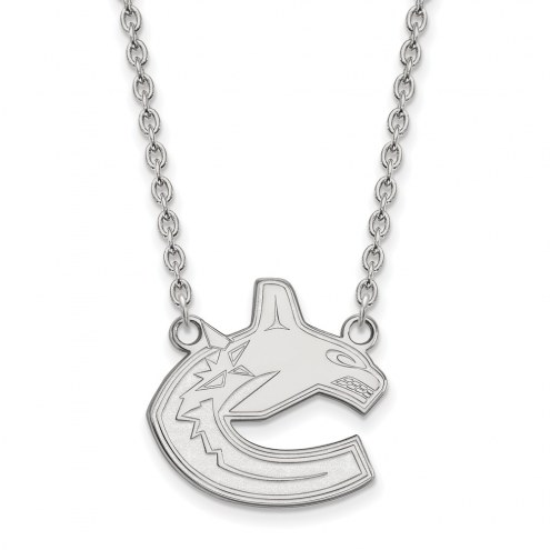Vancouver Canucks Sterling Silver Large Pendant Necklace
