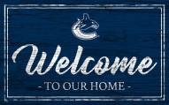 Vancouver Canucks Team Color Welcome Sign