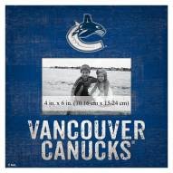 """Vancouver Canucks Team Name 10"""" x 10"""" Picture Frame"""
