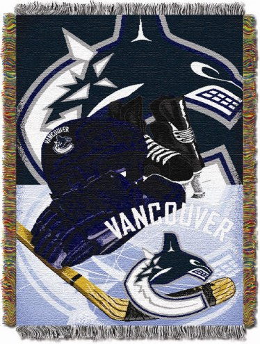 Vancouver Canucks Woven Tapestry Throw Blanket