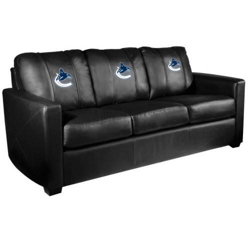 Vancouver Canucks XZipit Silver Sofa