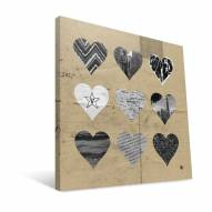 """Vanderbilt Commodores 12"""" x 12"""" Hearts Canvas Print"""