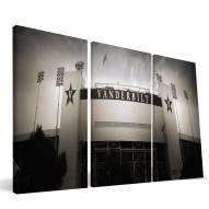 """Vanderbilt Commodores 24"""" x 48"""" Stadium Canvas Print"""