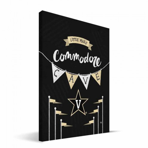"Vanderbilt Commodores 8"" x 12"" Little Man Canvas Print"