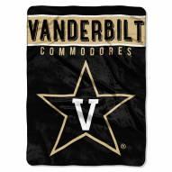 Vanderbilt Commodores Basic Plush Raschel Blanket