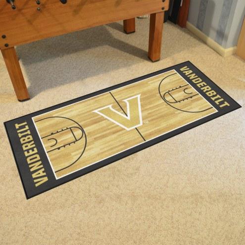 Vanderbilt Commodores Basketball Court Runner Rug