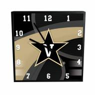 Vanderbilt Commodores Carbon Fiber Square Clock
