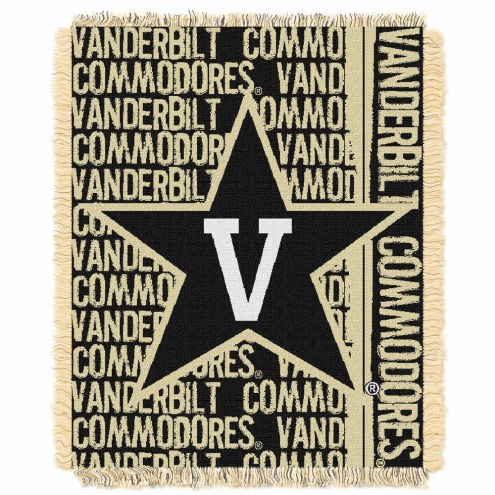 Vanderbilt Commodores Double Play Woven Throw Blanket