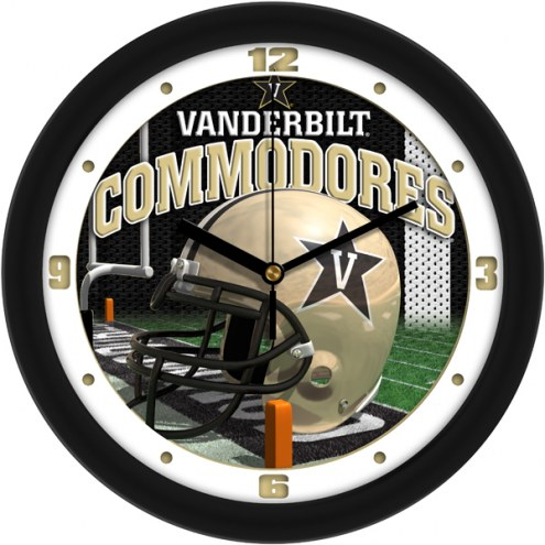 Vanderbilt Commodores Football Helmet Wall Clock