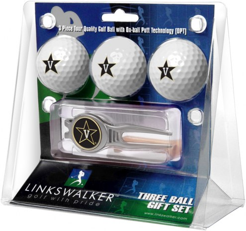 Vanderbilt Commodores Golf Ball Gift Pack with Kool Tool