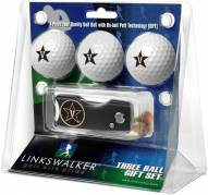 Vanderbilt Commodores Golf Ball Gift Pack with Spring Action Divot Tool