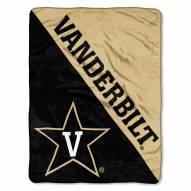 Vanderbilt Commodores Halftone Raschel Blanket