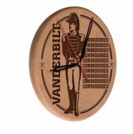 Vanderbilt Commodores Laser Engraved Wood Clock