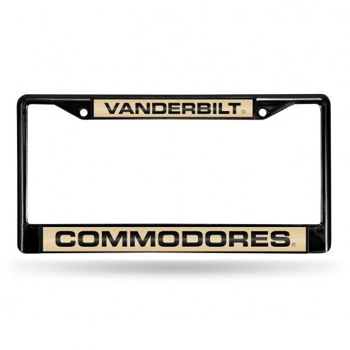 Vanderbilt Commodores Laser Black License Plate Frame