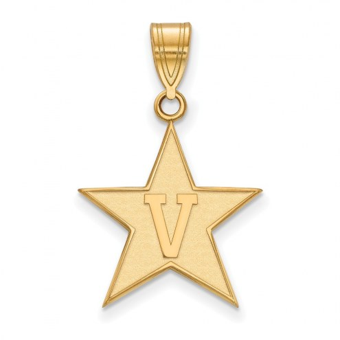 Vanderbilt Commodores NCAA Sterling Silver Gold Plated Large Pendant
