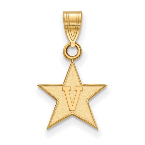 Vanderbilt Commodores NCAA Sterling Silver Gold Plated Small Pendant