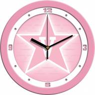 Vanderbilt Commodores Pink Wall Clock