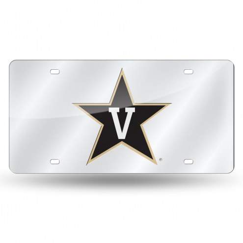 Vanderbilt Commodores Laser Cut License Plate