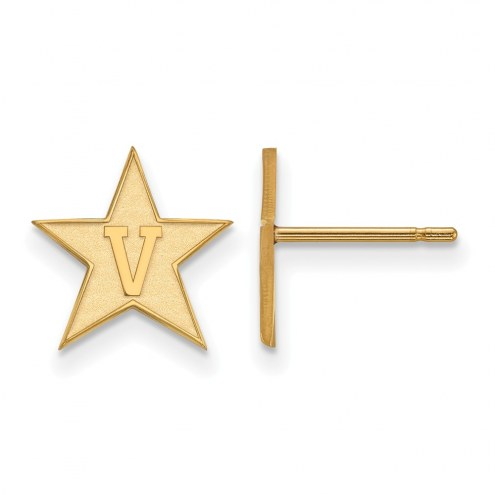 Vanderbilt Commodores Sterling Silver Gold Plated Small Post Earrings