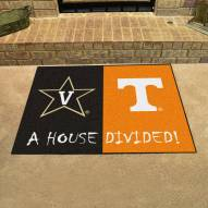 Vanderbilt Commodores/Tennessee Volunteers House Divided Mat