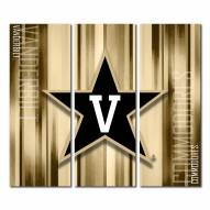 Vanderbilt Commodores Triptych Rush Canvas Wall Art
