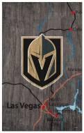 """Vegas Golden Knights 11"""" x 19"""" City Map Sign"""