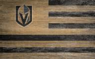 """Vegas Golden Knights 11"""" x 19"""" Distressed Flag Sign"""