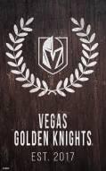 "Vegas Golden Knights 11"" x 19"" Laurel Wreath Sign"