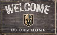 """Vegas Golden Knights 11"""" x 19"""" Welcome to Our Home Sign"""