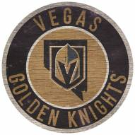 """Vegas Golden Knights 12"""" Circle with State Sign"""