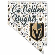 """Vegas Golden Knights 12"""" Floral State Sign"""
