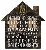 "Vegas Golden Knights 12"" House Sign"