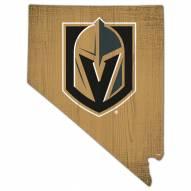 "Vegas Golden Knights 12"" Team Color Logo State Sign"