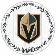 """Vegas Golden Knights 12"""" Welcome Circle Sign"""