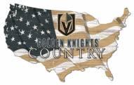 """Vegas Golden Knights 15"""" USA Flag Cutout Sign"""