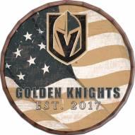 "Vegas Golden Knights 16"" Flag Barrel Top"