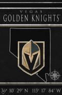 "Vegas Golden Knights 17"" x 26"" Coordinates Sign"